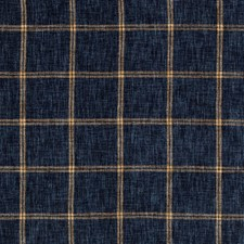 Dark Blue/Brown/Indigo Plaid Decorator Fabric by Kravet
