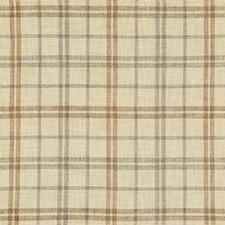 White/Black/Brown Plaid Decorator Fabric by Kravet