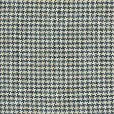 Turquoise/White/Blue Check Decorator Fabric by Kravet