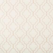 White/Salmon Geometric Decorator Fabric by Kravet