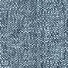 Blue/Indigo Herringbone Decorator Fabric by Kravet