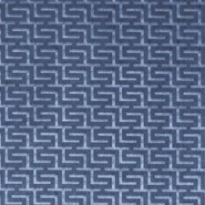 Sapphire Geometric Decorator Fabric by Duralee