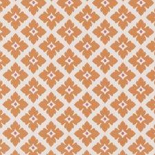 Orange Floral Small Decorator Fabric by Duralee