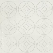 White/Silver Geometric Decorator Fabric by Kravet