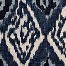 Indigo Abstract Decorator Fabric by Duralee