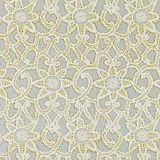 Gold/Silver Floral Vine Decorator Fabric by Duralee