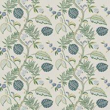 Laurel Blue Floral Decorator Fabric by Stroheim