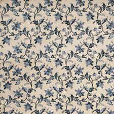 Indigo Floral Decorator Fabric by Fabricut