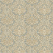 Ice Blue Damask Decorator Fabric by Trend