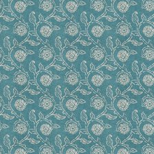 Teal Floral Decorator Fabric by Fabricut