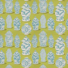 Lime Turquoise Global Decorator Fabric by Stroheim
