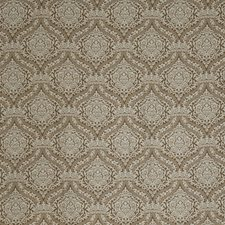 Mocha Damask Decorator Fabric by Vervain