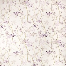 Purple Orchid Floral Decorator Fabric by Vervain