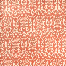 Persimmon Flamestitch Decorator Fabric by Vervain
