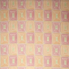 Tangerine Geometric Decorator Fabric by Vervain