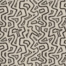 Onyx Embroidery Decorator Fabric by S. Harris