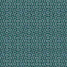 Turquoise Geometric Decorator Fabric by S. Harris