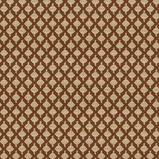 Chestnut Lattice Decorator Fabric by Vervain
