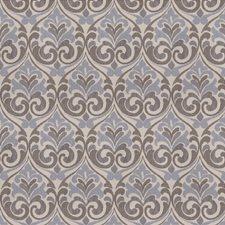 Indigo Damask Decorator Fabric by Trend