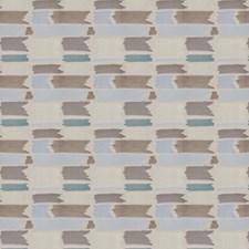 Bluebird Geometric Decorator Fabric by S. Harris