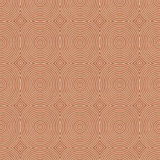 Orange Geometric Decorator Fabric by Trend