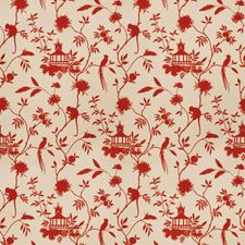 Red Global Decorator Fabric by Trend