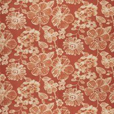 Papaya Floral Decorator Fabric by Vervain