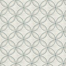 Aqua Print Pattern Decorator Fabric by Fabricut