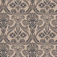 Indigo Damask Decorator Fabric by Fabricut