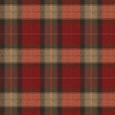 Claret Check Decorator Fabric by Stroheim