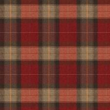 Claret Check Decorator Fabric by Stroheim