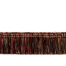 6006107 0267L Brush Fringe S0350 Persian Red by Stroheim