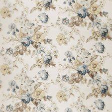 Denim Floral Decorator Fabric by Stroheim