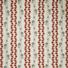 Red Floral Decorator Fabric by Stroheim