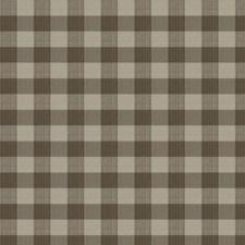 Nutmeg Check Decorator Fabric by Stroheim