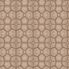 Mocha Geometric Decorator Fabric by Fabricut