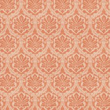 Coral Damask Decorator Fabric by Vervain