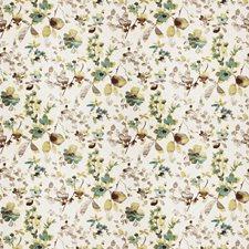 Aqua Cloud Floral Decorator Fabric by Trend