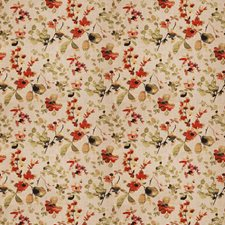Spice Floral Decorator Fabric by Trend