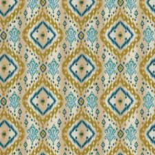 Teal Global Decorator Fabric by Fabricut