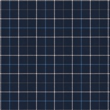 Navy Check Decorator Fabric by Fabricut