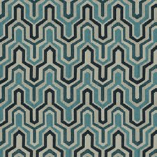 Sapphire Flamestitch Decorator Fabric by Trend