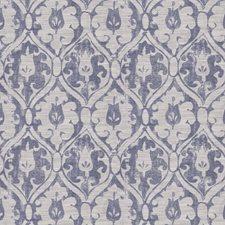 Navy Damask Decorator Fabric by Fabricut
