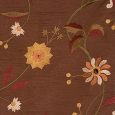 Molasses Embroidery Decorator Fabric by Trend