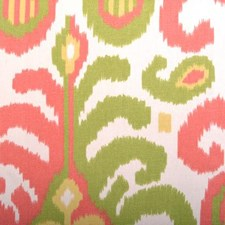 Pink/Green Damask Decorator Fabric by Duralee