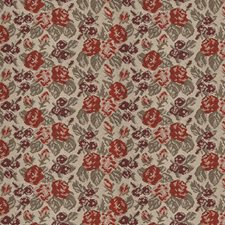Roses and Cherries Floral Decorator Fabric by S. Harris