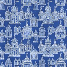 Cobalt Blue Global Decorator Fabric by Stroheim