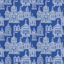 Cobalt Blue Global Decorator Fabric by Stroheim