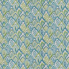 Peacock Geometric Decorator Fabric by Stroheim
