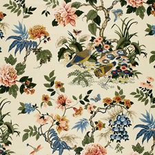 Paprika/Blue Decorator Fabric by Schumacher